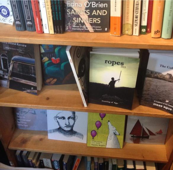 On the shelves at the Charlie Byrne's Cúirt Bookshop.